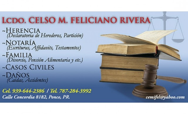 Lcdo. Celso M. Feliciano