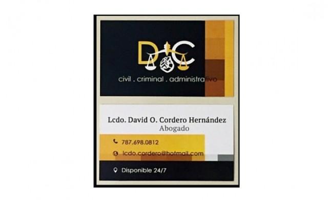 Lcdo. David O. Cordero Hernandez