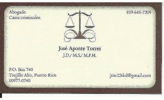 Lcdo. Jose Aponte Torres