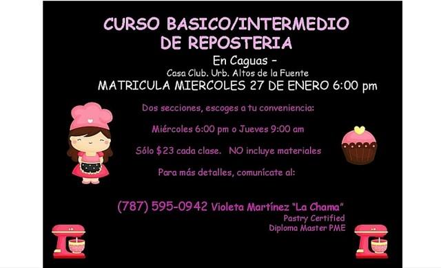 """Clases de Repostería Violeta Martínez """"La Chama"""""""