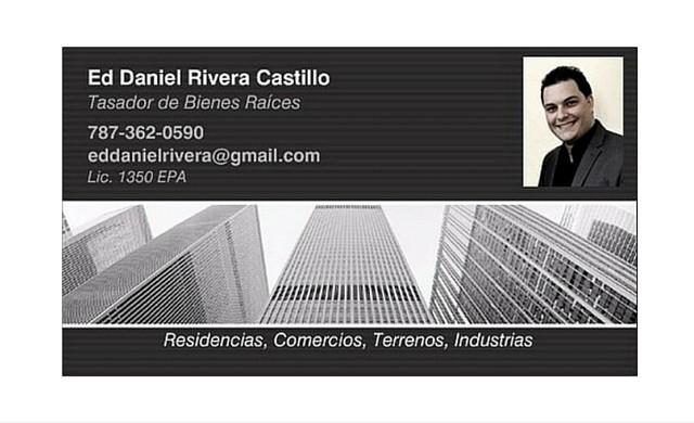 Ed Daniel Rivera Castillo / Tasador de Bienes Raíces