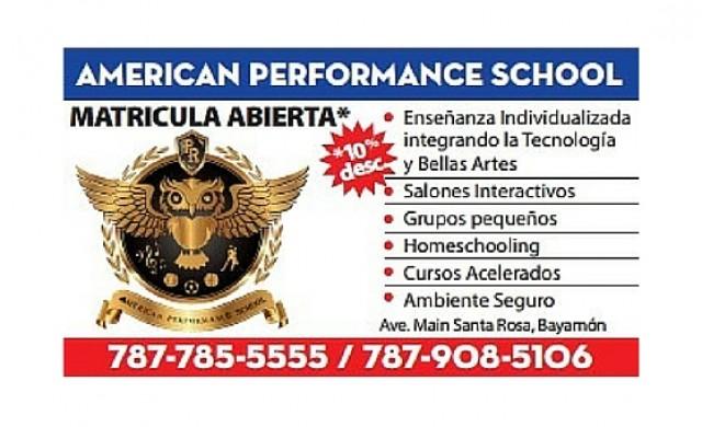 American Performance School of Puerto Rico, Inc.