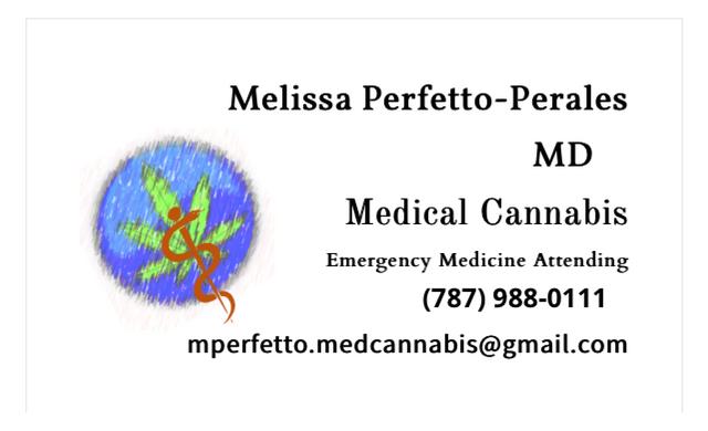 Dra. Melissa Perfetto, Cannabis Medicinal