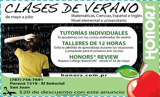 Honors Learning Center Clases de Verano