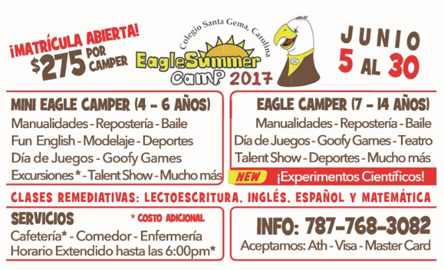 Colegio Santa Gema, Carolina Eagle Summer Camp 2017