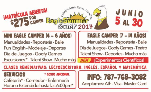 Colegio Santa Gema, Carolina Eagle Summer Camp 2017