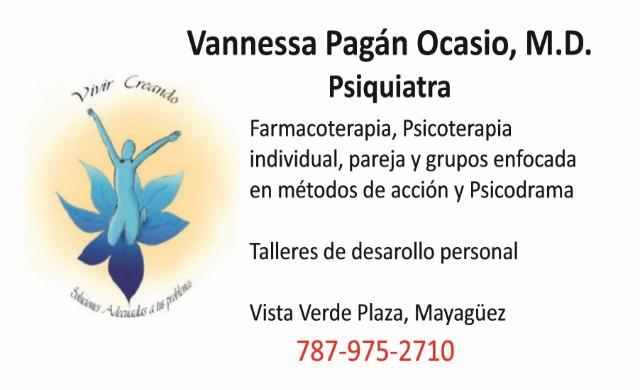 Vannessa Pagán Ocasio, MD Psiquiatra