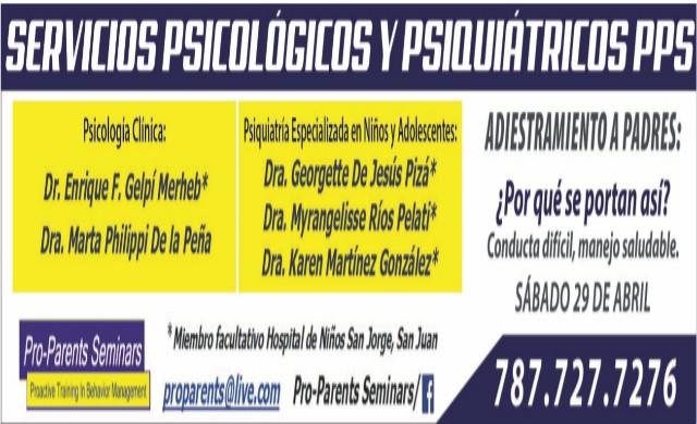 Servicios Psicológicos y Psiquiátricos  Pro-Parents Seminars