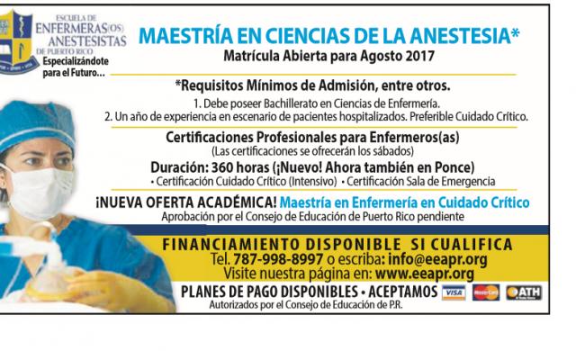Escuela de Enfermeras (os) Anestesistas de Puerto Rico