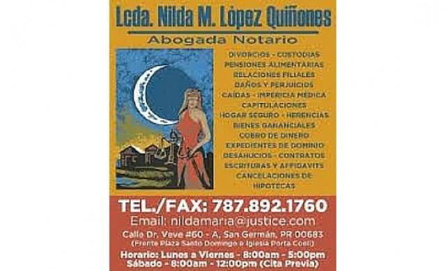 Lcda. Nilda M. Lòpez Quiñones